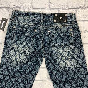 Miss Me floral cuff Capri jeans 29 NEW! JP584P2*